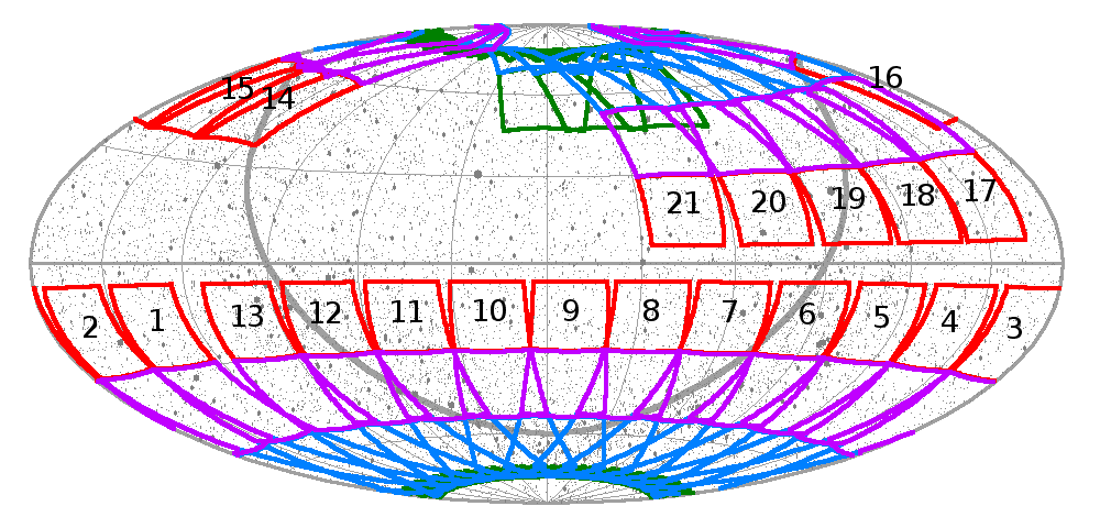 Clickable Ecliptic Map Year 1